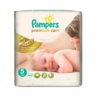 Подгузники Pampers Premium Care Newborn 88 шт., Mini 80 шт., Midi 60 шт., Maxi 52 шт., Junior 44 шт.