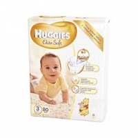 Подгузники Huggies Elite Soft Mega 3 (5-9 кг) 80 шт., 4 (8-14 кг) 66 шт., 5 (12-22 кг) 56 шт.