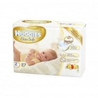 Подгузники Huggies Elite Soft 1 (2-5 кг) 26 шт., 2 (4-7 кг) 24 шт.