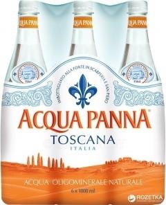 Упаковка минеральной негазированной воды Acqua Panna 1 л х 6 бутылок Киеве