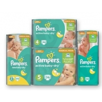 Детские подгузники Pampers new/active baby-dry Magical Pods, уп.