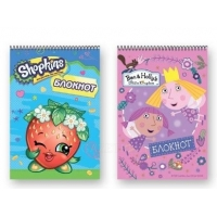 Блокнот «Shopkins»/«Ben and Holly» на спирали, 110 х 160 мм, 32 листа, в ассортименте