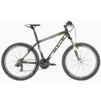Велосипед Bulls Wildtail 26 R51 black mate (green) (6999)
