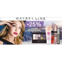 До 25% TM Maybelline New York