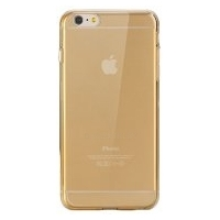 Silicone Case iPhone 6/6S Plus Clear/Gold