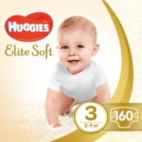 Подгузники Huggies Elite Soft 3 5-9 кг 160 шт