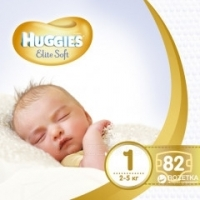 Подгузники Huggies Elite Soft 1 (2-5 кг) 82 шт./уп.