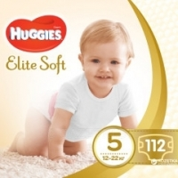 Подгузники Huggies Elite Soft, 5, 12-22 кг, 112 шт.