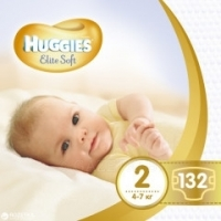 Подгузники Huggies Elite Soft 2 (4-7 кг) 80 шт./уп.