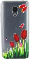 Чехол-накладка Lucent Diamond Red Tulips для Meizu M3