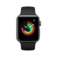 Смарт-часы Apple Watch Series 3 GPS 38mm Space Grey Aluminium Case with Black Sport Band (MQKV2FS/A)