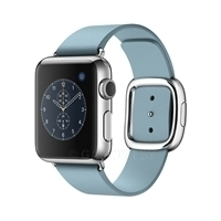 Смарт-часы Apple Watch 38mm Stainless Steel Case with Blue Jay Modern Buckle - Medium (MMFA2KR/A)