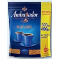 AMBASSADOR Blue label Кофе растворимый 400г