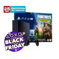 Игровая консоль Sony PlayStation 4 Pro 1TB + Fortnite (Black)