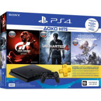 Игровая приставка Sony PlayStation 4 Slim 500Gb Black Horizon (full edition), Gran Turismo, Uncharted 4