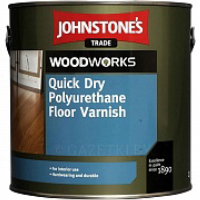 Лак Johnstone's Quick Dry Polyurethane Floor Varnish Clear Gloss 5 л