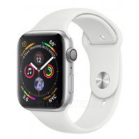 Смарт-часы Apple Watch Series 4 GPS 44mm Silver Aluminium Case with White Sport Band (MU6A2UA/A)