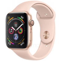 Смарт-часы Apple Watch Series 4 GPS 44mm Gold Aluminium Case with Pink Sand Sport Band (MU6F2UA/A)