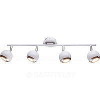 Спот Accento Lighting ALIN-Oslo-3 GU10 4x28 Вт хром/белый