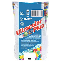 Затирка Mapei Ultracolor Plus 100 белая 5 кг