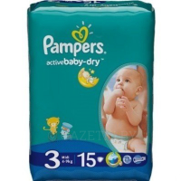 Подгузники PAMPERS Active Baby-Dry Midi (4-9 кг) 15 шт. (4015400583523)