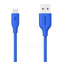 Кабель Anker Powerline MicroUSB - 0.9м V3 Blue