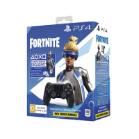 Геймпад PS4 Dualshock 4 V2 Black+ваучер Fortnite (2019)