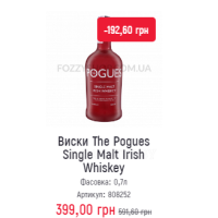 Виски The Pogues Single Malt Irish Whiskey