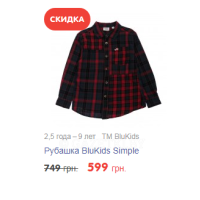 2,5 года – 9 лет   TM BluKids Рубашка BluKids Simple