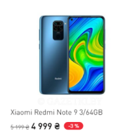 Xiaomi Redmi Note 9 3/64GB