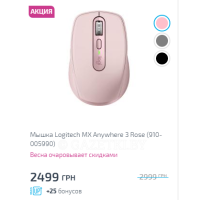 Мышка Logitech MX Anywhere 3 Rose (910-005990)
