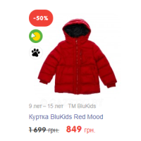 Куртка BluKids Red Mood